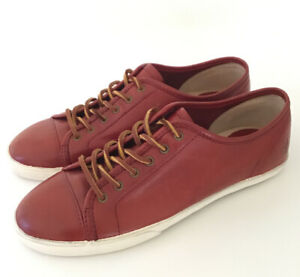 FRYE Women's Size 8 Brown Leather Low Top Lace Up Sneakers