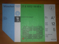 Ticket Olympic Games MÜNCHEN Germany 1972 - BOXING 27.08.1972
