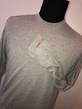 SIMMS Fishing Insect Shield Guide Shirt Men's Large Fishing T Grey Long Sleeve