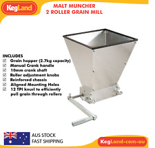 Malt Muncher - 2 Mill Roller Homebrew Grain Mill - Grinder - Malt Crusher