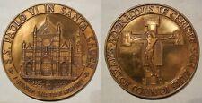 Vaticano medaglia visita di Paolo VI dopo l'alluvione di Firenze 1966