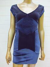 SHONA JOY VELVET BODYCON FITTED MINI Skirt Dress 6 XS S