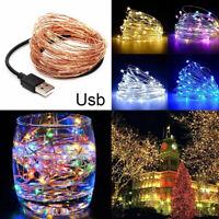 Fj- 5/10m Impermeabile USB LED Filo di Rame Fairy Luci Natale Festa Lampada Dec