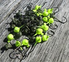 Lot of 40 Bluegill Candy 1//64 oz Ice Fishing Jigs Lethal Glow White /& Army Green