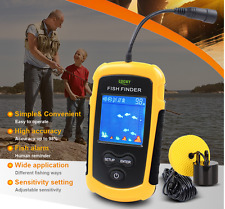 100M Portable Sonar Sensor Fish Finder Fishfinder Capturing Transducer Alarm+LCD