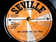 "DOOLEY SILVERSPOON & JEANNE BURTON - AM I LOSING YOU  7"" VINYL"