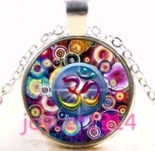 Colourful OM HINDU AUM necklace Shiva Sanskrit Ganesh pendant