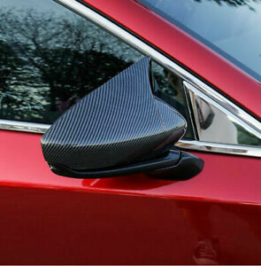 For Mazda CX30 Car Accessories Carbon Fiber Side Door Mirror Cover Protector 20