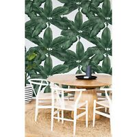 Banana leaf Non-Woven wallpaper mural Floral art leaves Botanical Traditional
