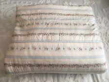 Rare Ralph Lauren Julianne Floral Stripe Full Queen Comforter Blue Ivory Repairs