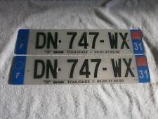 2X FRANCE REGION MIDI-PYRENEES EUROSTARS # DN-747-WX DEPT 31 RARE LICENCE PLATES
