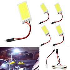5x White COB 18-LED 12V Plate Dome Car Interior Light Bulb  T10 Festoon Adapter