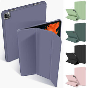 Smart Silicone Flip Case For iPad Pro 11'' 12.9'' 2020 Cover With Pencil Holder