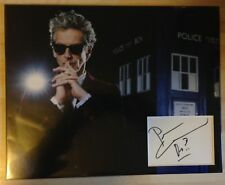 Peter Capaldi DR WHO DOCTOR WHO Signed 11x14 Display AFTAL
