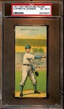 1911 T201 Mecca Double Folder Baseball Card Walter Johnson & Street PSA 4 VGEX
