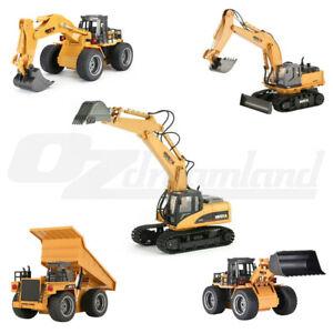 HUINA RC Toy 2.4Ghz Diecast Excavator Digger Truck Bulldozer Loader Dump Truck