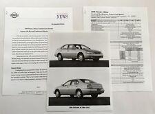 1999 Nissan Altima Original Car Product Media News Guide Brochure like