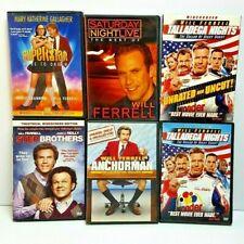 Will Ferrell 6LOT Dvd Taladega Nights Step Brothers AnchorMan Superstar erf-gb7