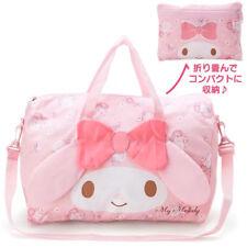 My Melody Cute Pink Handbag Cross Body Bag Large Travel Bag + Small Storage Bag