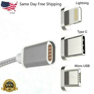 Micro USB Port Magnetic Adapter Charger For Iphone IOS Android Type c Cable