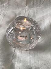 Vintage Kosta Boda Snowball Clear Crystal Votive Tea light Candle Holder Sweden