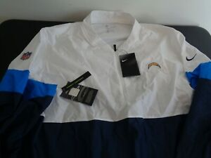 LOS ANGELES CHARGERS Football NIKE Pullover Size 3XL Windbreaker Jacket NFL New