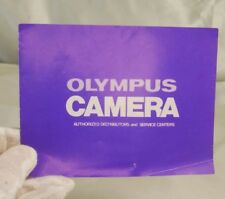 Olympus Camera Authorized Distributors and ServiceCenters CatalogueEN vintage