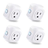 4 Pack WiFi Smart Plug APP Remote Control Timer Outlet Wireless Socket US Plug
