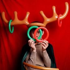 Inflatable Reindeer Antler Hat Ring Toss Game Christmas Holiday Toy