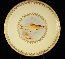 "Antique Willets American Belleek Hnd Painted Fish Plate c.1880's 9"" dia"
