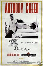 Anthony Green 2014 San Diego Concert Tour Poster - Circa Survive, Saosin