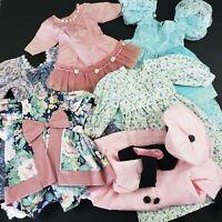 Vintage Homemade Girl Doll Dresses Rompers Coat Lot of 6 Mini World Doll *Read*
