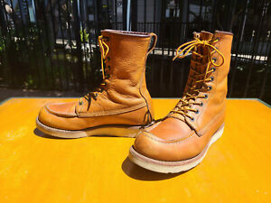 Red Wing Shoes 877 Heritage Moc Toe Work Hunting Boots - Men's Size 8 D - USA