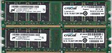 2GB 2x1GB PC-3200 DDR-400 RAM MEMORY KIT CRUCIAL MICRON CT12864Z40B.16TFY DDR1