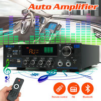 220V-240V 2000W 2 Channel Pro bluetooth Power Amplifier AMP Stereo Audio USB SD