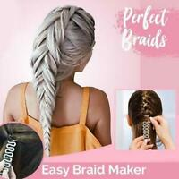 2pcs Hair Braider Fashion Maker Twist Styling Bun Braid Tool Holder Clip DIY HZ