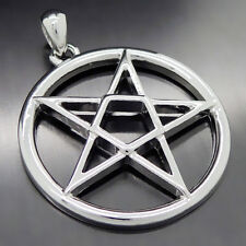 Men's Inverted Pentacle Pentagram Star Boy's Pewter Pendant Free Necklace