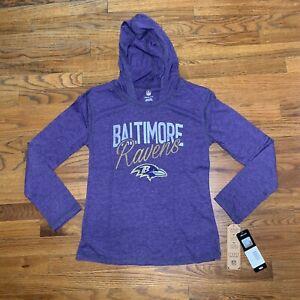 NFL Team Apparel Youth Girls Medium 10/12 Baltimore Ravens Sweatshirt Hoodie NWT
