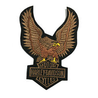 "Harley Davidson Motor Cycle Large Eagle Embroidered Patch Iron On 7x9.8"" 18x25Cm"