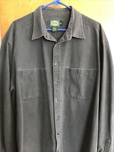 Cabela's Men's XLT Gray Long Sleeve Button Down Heavy Duty Work Shirt