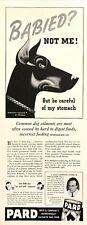 1941 Doberman Pincher Dog art by Stan Ekman Pard Dog Food vintage print ad