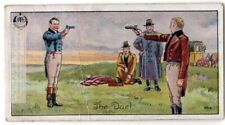 Code Of Honor Duel Trial By Combat Rapiers Guns Pistols 1920s Trade Card