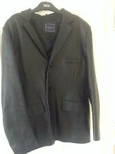 Mens Leather Jacket - Large - Fitted - Riverisland
