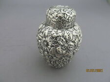 GORHAM REPOUSSE STERLING SILVER TEA CADDY