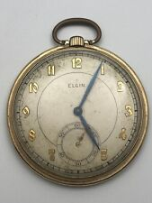 Vintage 10S Elgin 15 Jewel 546 Gold Filled Case Pocket Watch