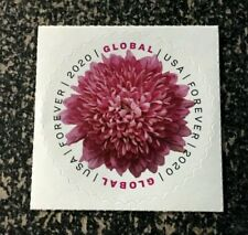 2020USA Global Forever - Chrysanthemum  Single Mint (international sase)