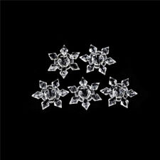 5Pcs Crystal Clear Acrylic Snowflakes Snowflake Ornaments Party Christmas DecoSP