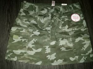 Girls justice belted denim camo skirt size 8 new