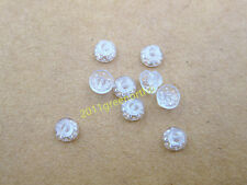 orthodontic easy multi buttons,clear polycrystal, perforated round base---10pcs