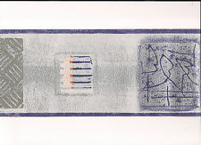 Wall Border.. Classic Script Design. Purple Silver, 5M Vinyl Wallpaper dz5127b
